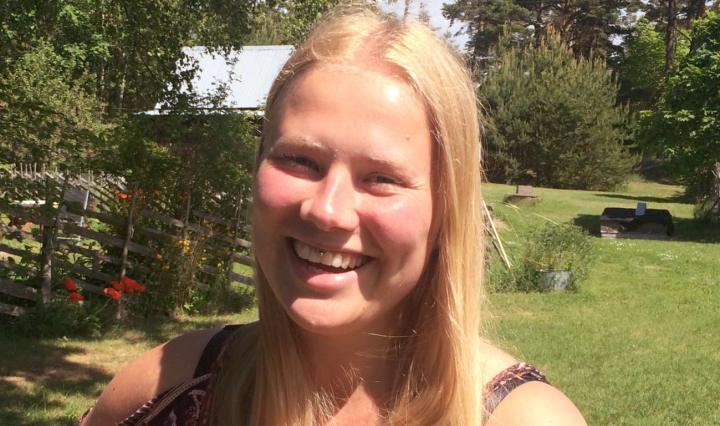Porträttfoto på Natalie