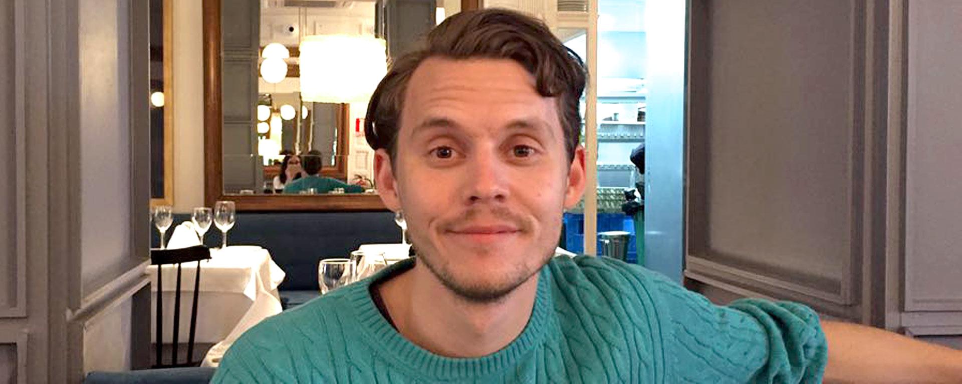 Porträtt på på Tobias